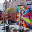 Mural in Chelsea, Manhattan, New York City - Foto de Stock