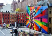 Mural in Chelsea, Manhattan, New York City — Stock Photo