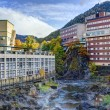 Hot Spring Resort Town in Hokkaido, Japan — Stock Photo