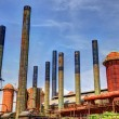 Factory Smoke Stacks — Stock Photo