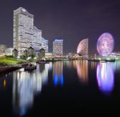 Yokohama, Japan Cityscape at Minato-mirai — Stock Photo