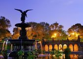 Bethesda Terrace in Central park — Stock Photo