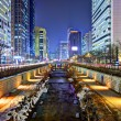 Cheonggyecheon in Seoul — Stock Photo