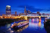 Nashville at the Cumberland River — Stock Photo