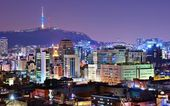Seoul, South Korea Skyline — Stock Photo