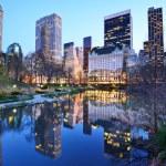 New York City Central Park Lake — Stock Photo