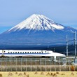 Stock Photo: Fuji and Train