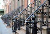 Brownstone Apartment steps — Stock Photo