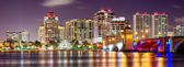 West Palm Beach Skyline — Stock Photo