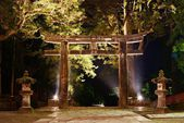 Stone Tori Gate in Nikko, Japan. — Stock Photo