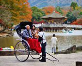 Rickshaw in Nara, Japan — Stock Photo