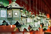 Japanese Buddhist Temple Lanterns — Stock Photo