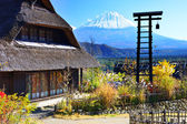 Village and Mt. Fuji — Stockfoto