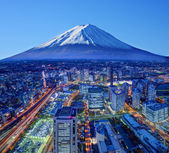 Fuji And Yokohama — Stock Photo