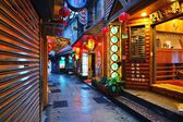 Alley Way in Jiufen, Taiwan — Foto Stock