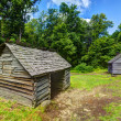 Stock Photo: Log Cabins in Great Smoky Mountains