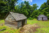 Log Cabins in the Great Smoky Mountains — Stock Photo