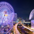 Stock Photo: Yokohama, Japan at Night.