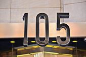 105 building number — Stock Photo