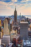 New York City at Dusk — Stock Photo