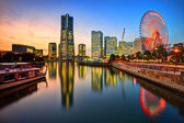 Yokohama Skyline at Sunset — Stock Photo