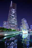 Yokohama, Japan at Night — Stock Photo