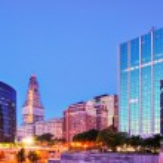 Downtown Hartford, Connecticut Skyline — Stock Photo