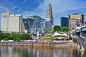 Downtown Hartford, Connecticut Skyline — Stock Photo