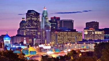 Hartford Connecticut Skyline — Stock Video