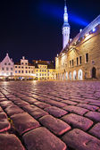Tallinn Estonia Town Square — Stock Photo