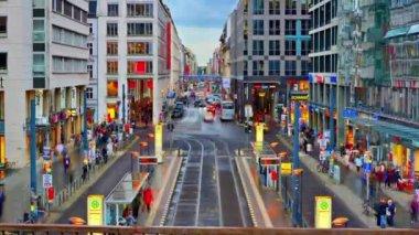 Friedrichstrasse in Berlin, Germany — Stock Video