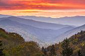 Montanhas smoky — Foto Stock