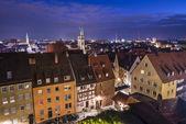 ニュルンベルクのスカイライン — ストック写真