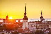 Tallinn Estonia Sunset — Stock Photo