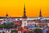 Tallinn Estonia Skyline — Stock Photo