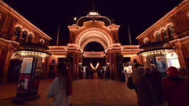 Tivoli Gardens — Stock Video