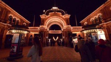Tivoli Gardens — Stock Video