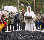 Firewalking at Shinto Ceremony — Stock Photo