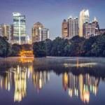 Atlanta, Georgia Skyline — Stock Photo