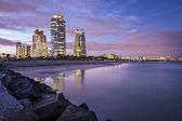 Miami Beach Skyline — Стоковое фото