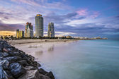 Skyline von miami beach — Stockfoto