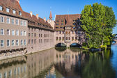 Nuremberg, Germany on the Pegnitz River — Stock Photo