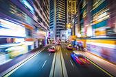Hong Kong Motion Blur — Stock Photo