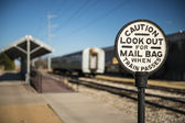 Old Railroad Caution Sign — Foto Stock
