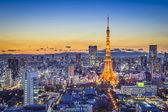 Horizonte da cidade de tóquio japão — Fotografia Stock