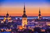 Tallinn, Estonia at Sunset — Stock Photo