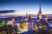 Tallinn, Estonia at dawn. — Stock Photo