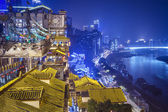 Chongqing at Hongyadong — Stock Photo