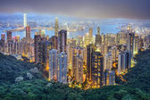 Horizonte de la ciudad de hong kong china — Foto de Stock