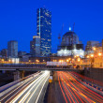 Boston Skyline from Harborwalk — Stock Photo #9973862